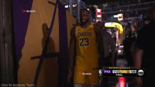 Lebron James leaves the game without shaking hands!!??