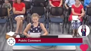 9-year old girl DESTROYS the school board!