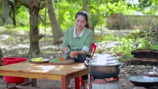 Amazing Cooking Rock Crab Yellow Noodle - Cooking With Sros