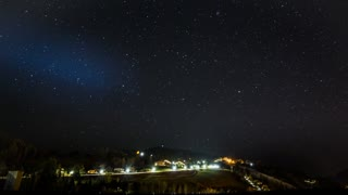 Time lapse video of night-time