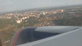 Flight over Moscow