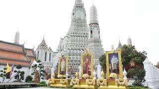 Giant photos of the Thai royal family