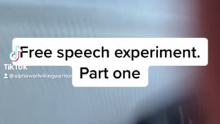 Free speech experiment 1/2