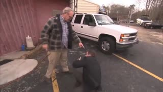 Reporter Discovers Why He Should Not Harass Elderly Small Business Owners About the Vaccine