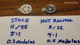 SCX24 Gear Ratio Options
