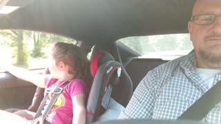 Little Girl Loves Fast Cars