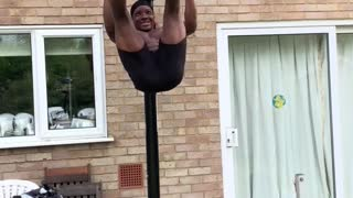 Building Your Core at Home with a Basketball Hoop