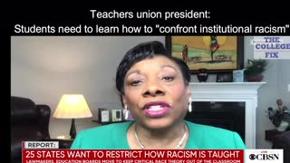 """Teachers union president wants students to """"confront institutional racism"""""""