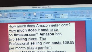 How much does Amazon seller cost?