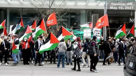 "Toronto protest: ""Viva intifada; We'll sacrifice our soul, blood for Al-Aqsa Mosque"""