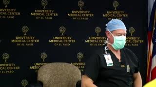 First person getting covid vaccine empty needle