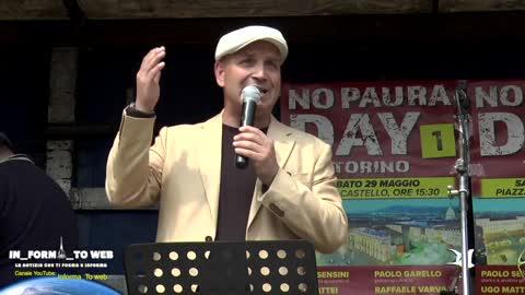 """""""No Paura Day 1"""" di Torino, 29 Maggio 2021, intervento di Paolo Sensini"""