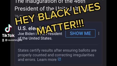 BLACK LIVES MATTER right?