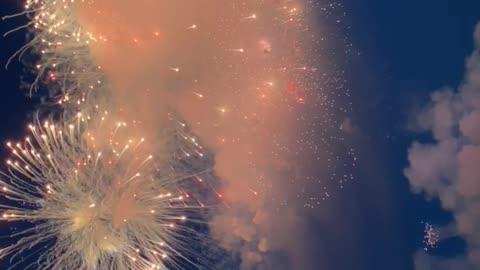 colorful fireworks in Saint Petersburg