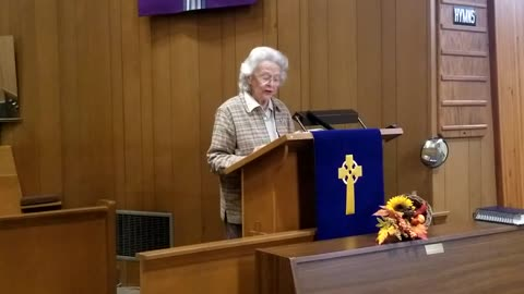 Sermon - Reasons to be Thankful - October 11, 2020