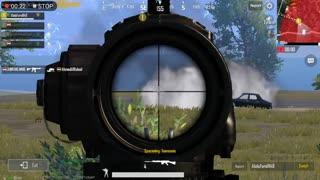 Sniper Fighting Full Team Alone In Pubg Mobile