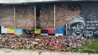 George Floyd Mural Reportedly Struck by Lightning in Toledo, Ohio