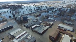 Severe Flooding in North Bend Nebraska