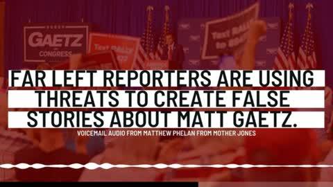 Mother Jones Reporter Matthew Phelan Sends Disturbing Voicemail To Matt Gaetz Staffer
