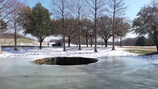 Las Colinas Parkway Frozen