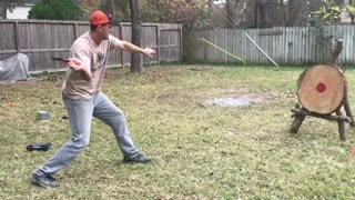 Dude throws knives
