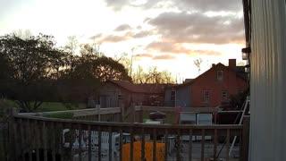 Sunrise on Zmodo Surveillance Camera - Time lapse