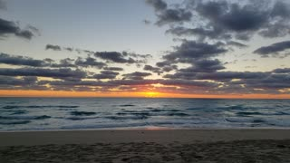 Sunrise in real time - Palm Beach, Florida