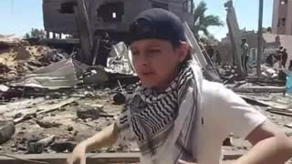 Viral video young rapper from Gaza
