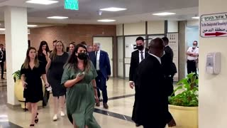 Leaders of Israel's new government arrive at Knesset