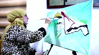 Iraqi artists show support for Palestinians