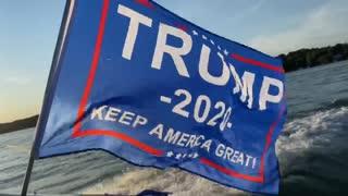 Flying Trump Flag