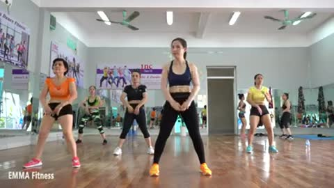 550 Calorie Aerobic Workout- Full Body Weight Loss And Toning - EMMA Fitness