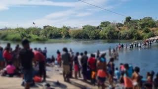 BIDEN'S BORDER CRISIS: Illegal Aliens Flood Across Del Rio Border
