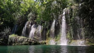 Selection Of Beautiful Waterfalls With Rushing Water