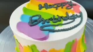 More beautiful cake with rainbow colors