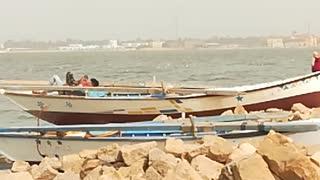 Old Boat Found In Qarun Lake Shore