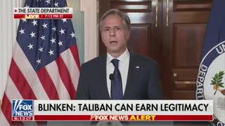 Blinken on Taliban seeking legitimacy