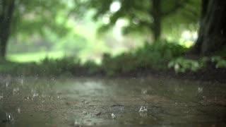 raining slow motion