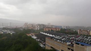 Fuerte tormenta en Bucaramanga y el área metropolitana