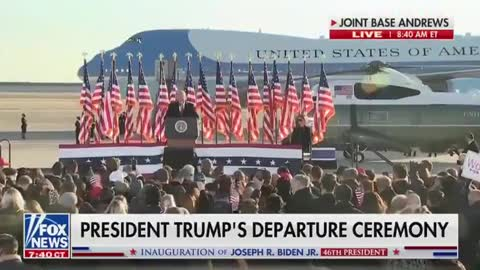 Trump: It is my greatest honor and privilege to have been your president