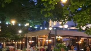 Restaurant in the evening