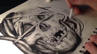 Skull sketch timelapse part 2