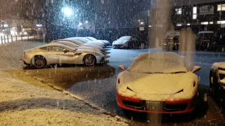 Snow Covered Supercars