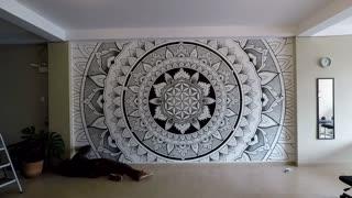 Mesmerizing Mandala Creation Time-Lapse