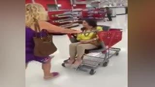 Grandma In A Shopping Cart
