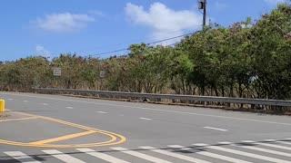 Coming through the Trump rally Kailua