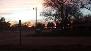 Evening country sky