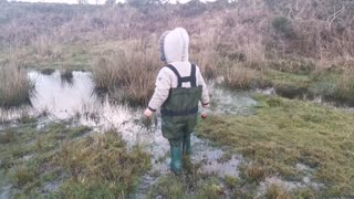 Xani's wading adventure