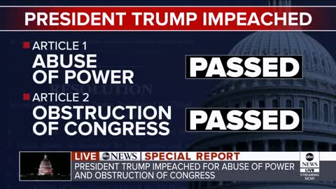 ABC Reporter: First Ever Impeachment Along Party Lines, 'Absolute Partisanship'