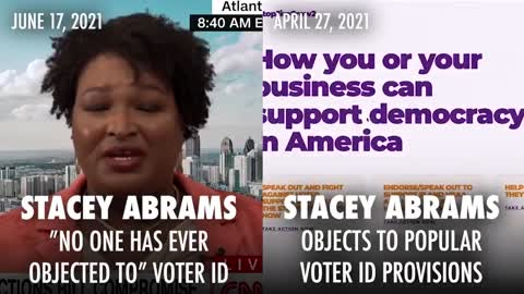 Stacey Abrams Eats Herself For Lunch Over Her Voter ID Stance